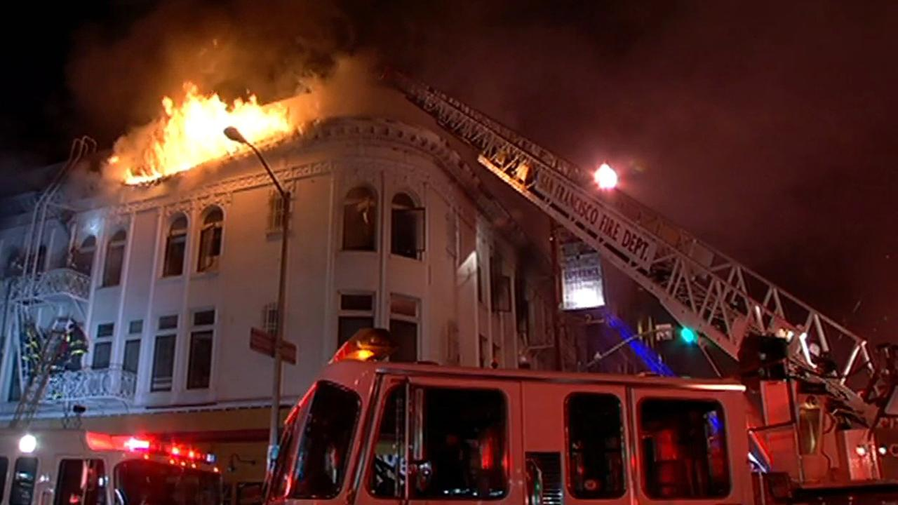 Four-alarm fire in Mission District.