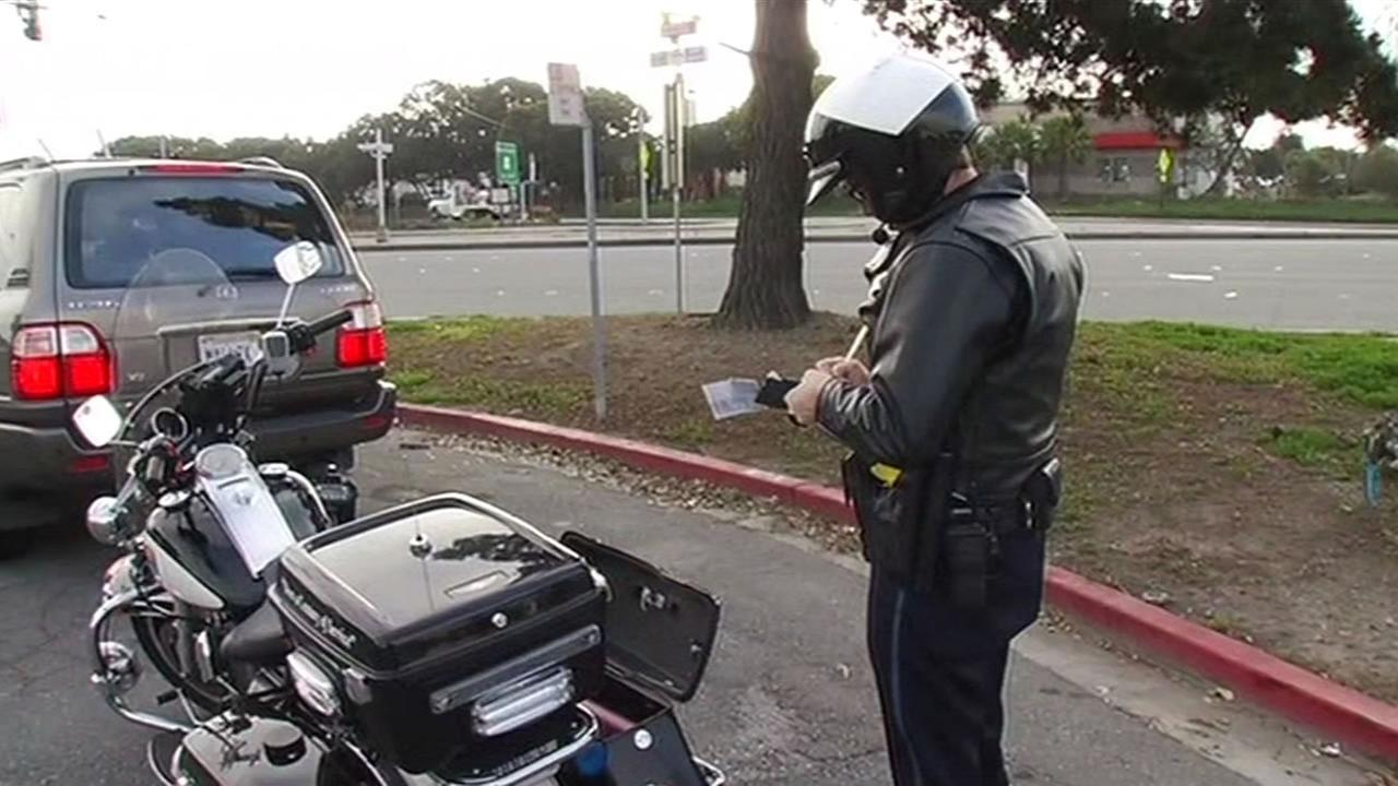 Police are cracking down and ticketing distracted drivers on the Peninsula.