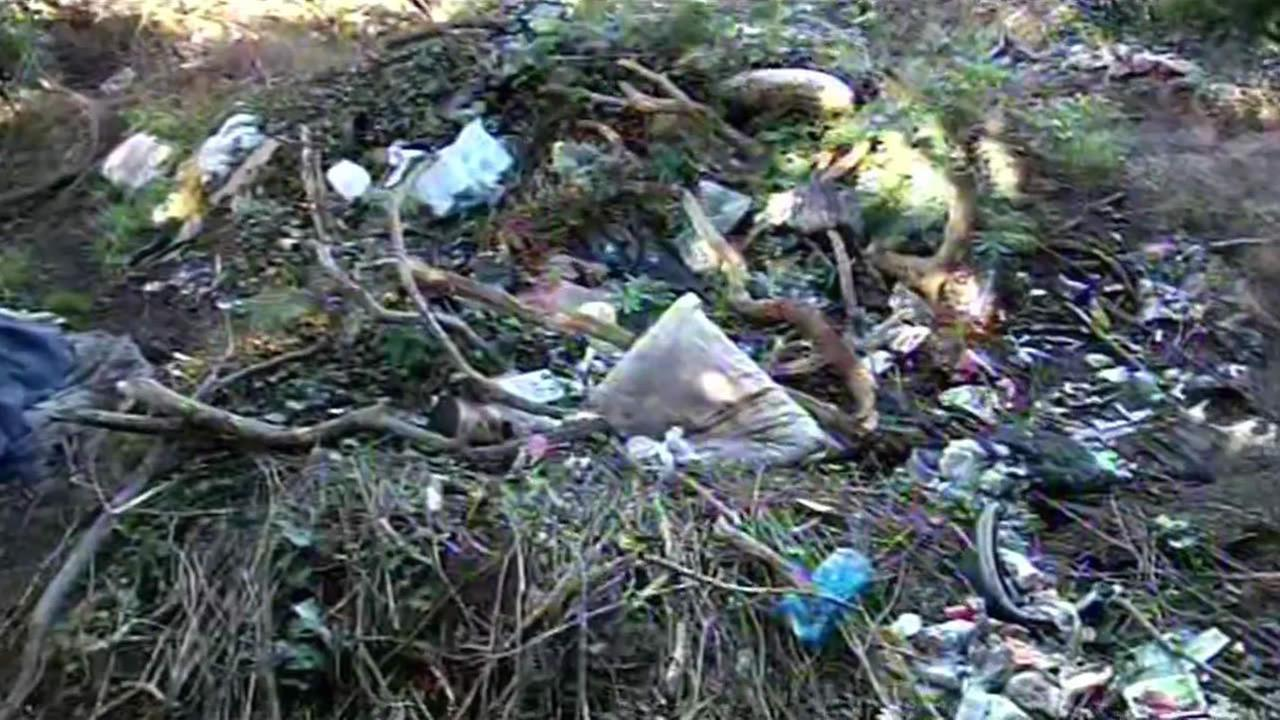 Trash at San Franciscos Lands End park