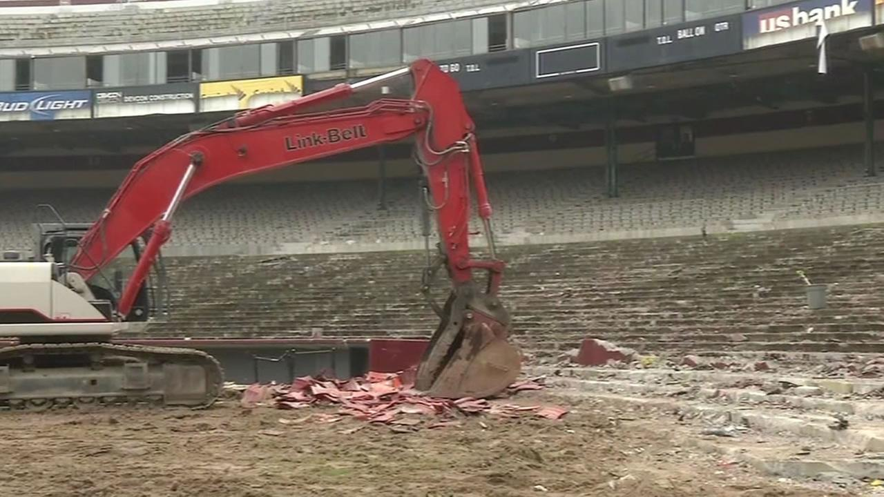 A chapter in San Franciscos history is almost over as crews begin demolition on Candlestick Park.