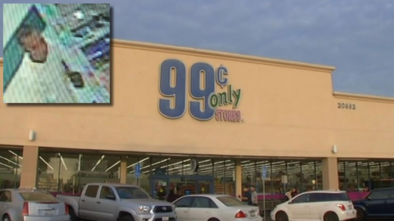 Man captured on surveillance cameras inside 99 Cents Only store