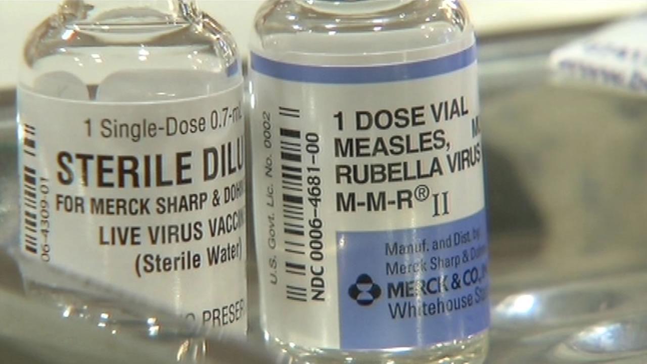 Measles vaccine.