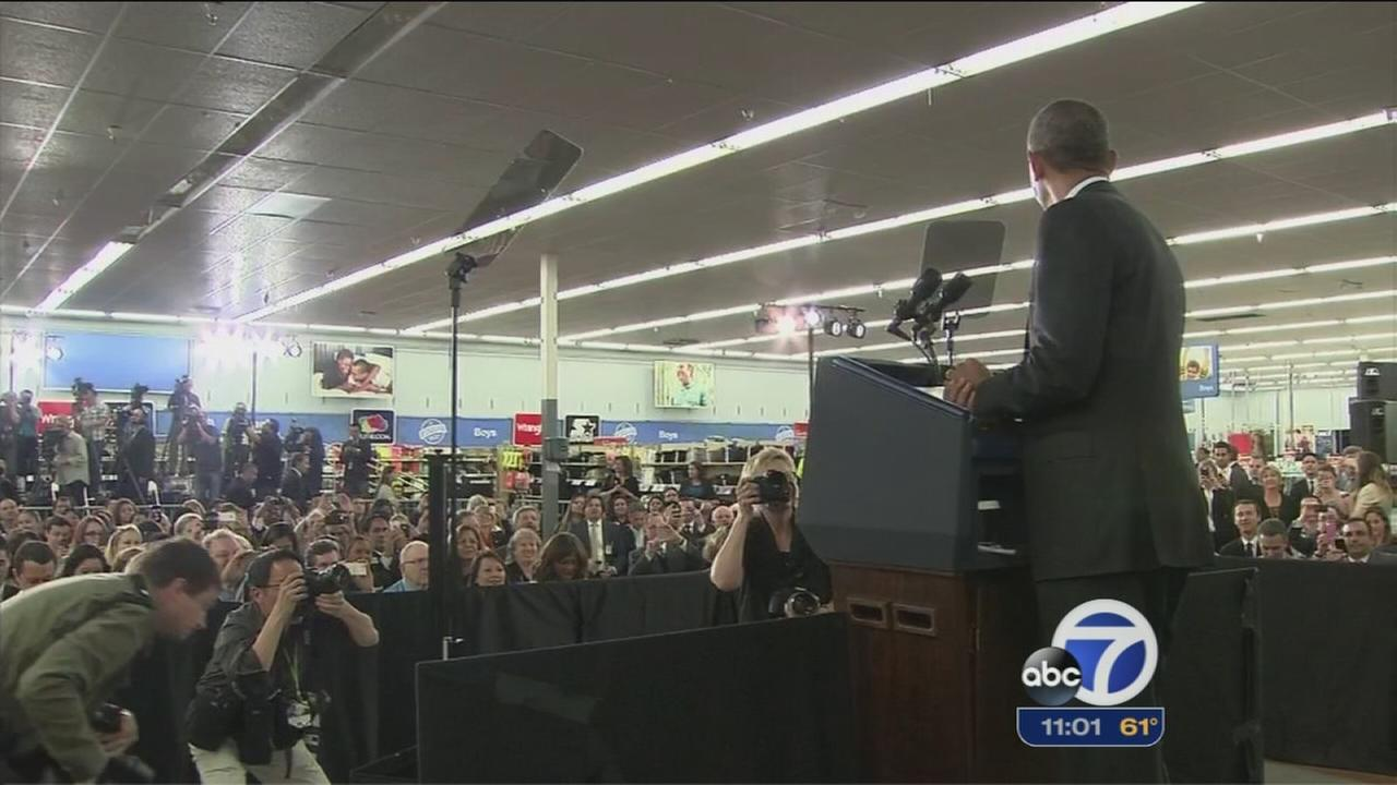 President Obama gives speech on solar in Mountain View