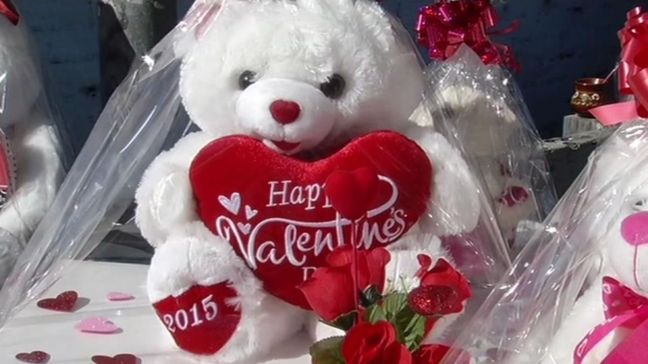 A Valentines Day teddy bear.