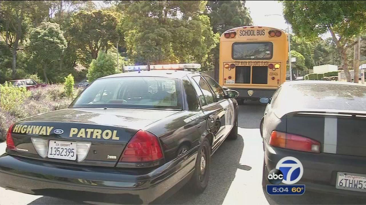 Children taken to hospital after bus accident