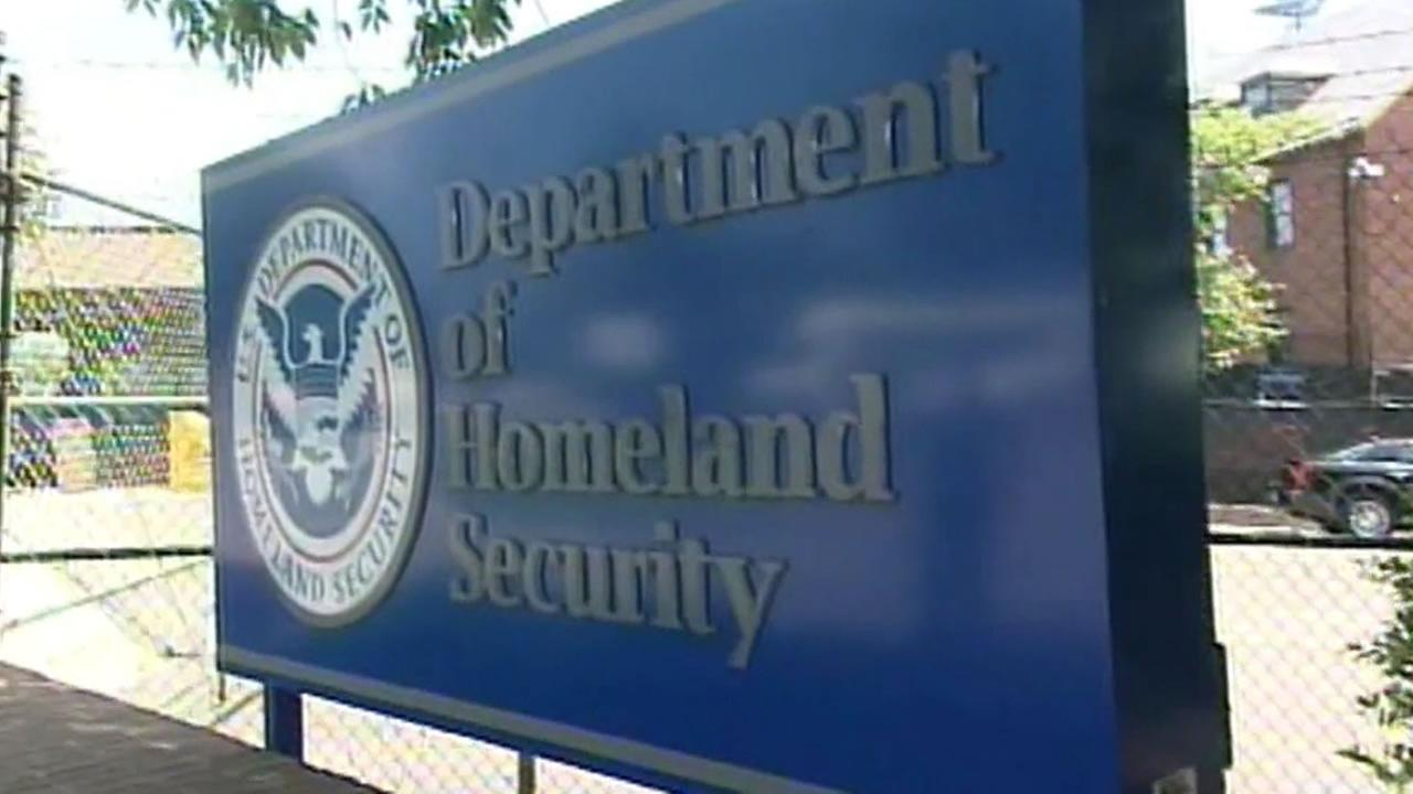 Department of Homeland Security office sign