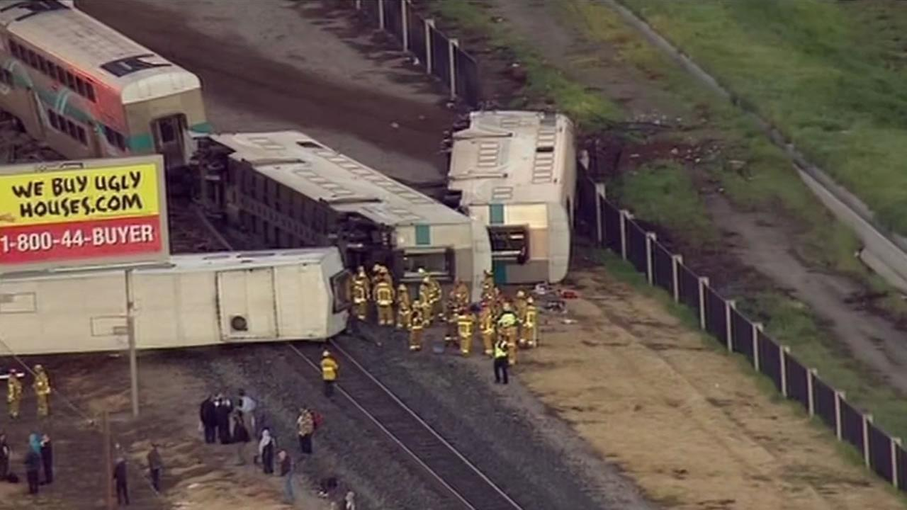 A commuter train hit an abandoned truck early Tuesday injuring dozens of people onboard in Oxnard.