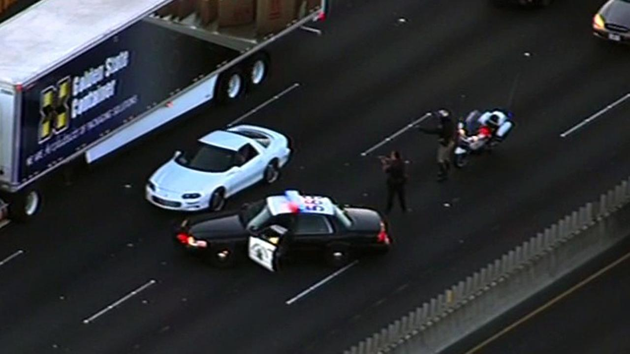 Chase ends on I-80 in Berkeley.