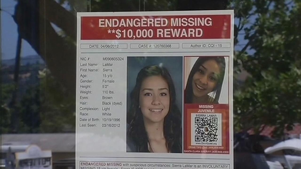 One of the original flyers from when Morgan Hill teen Sierra LaMar went missing on March 16, 2012.