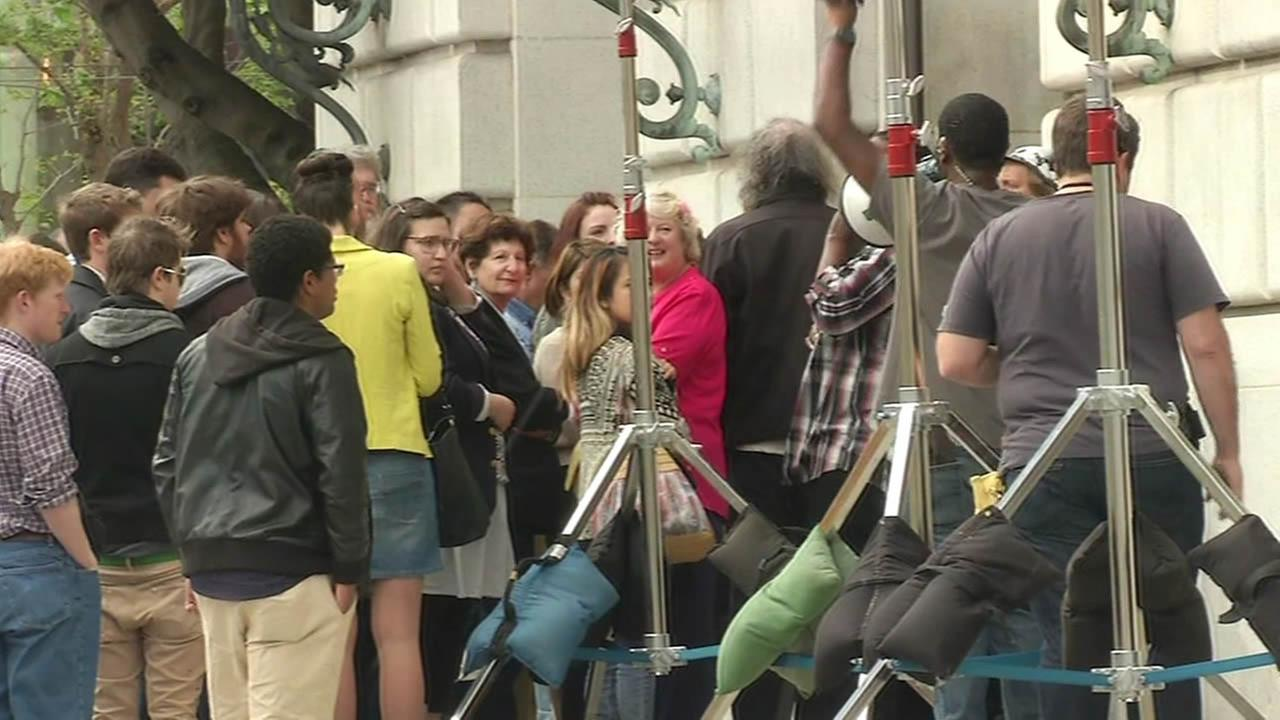 Hundreds flock to be in Steve Jobs movie scene in San Francisco