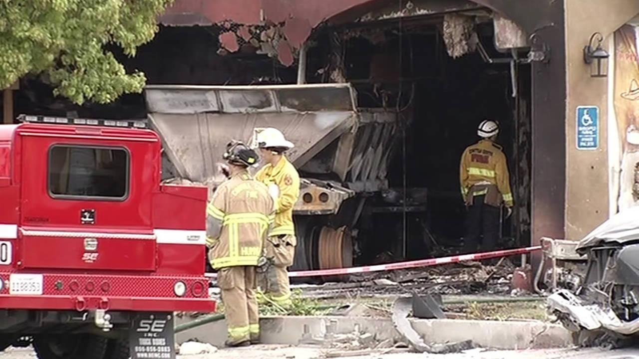 Fatal big-rig accident at strip mall in Pittsburg