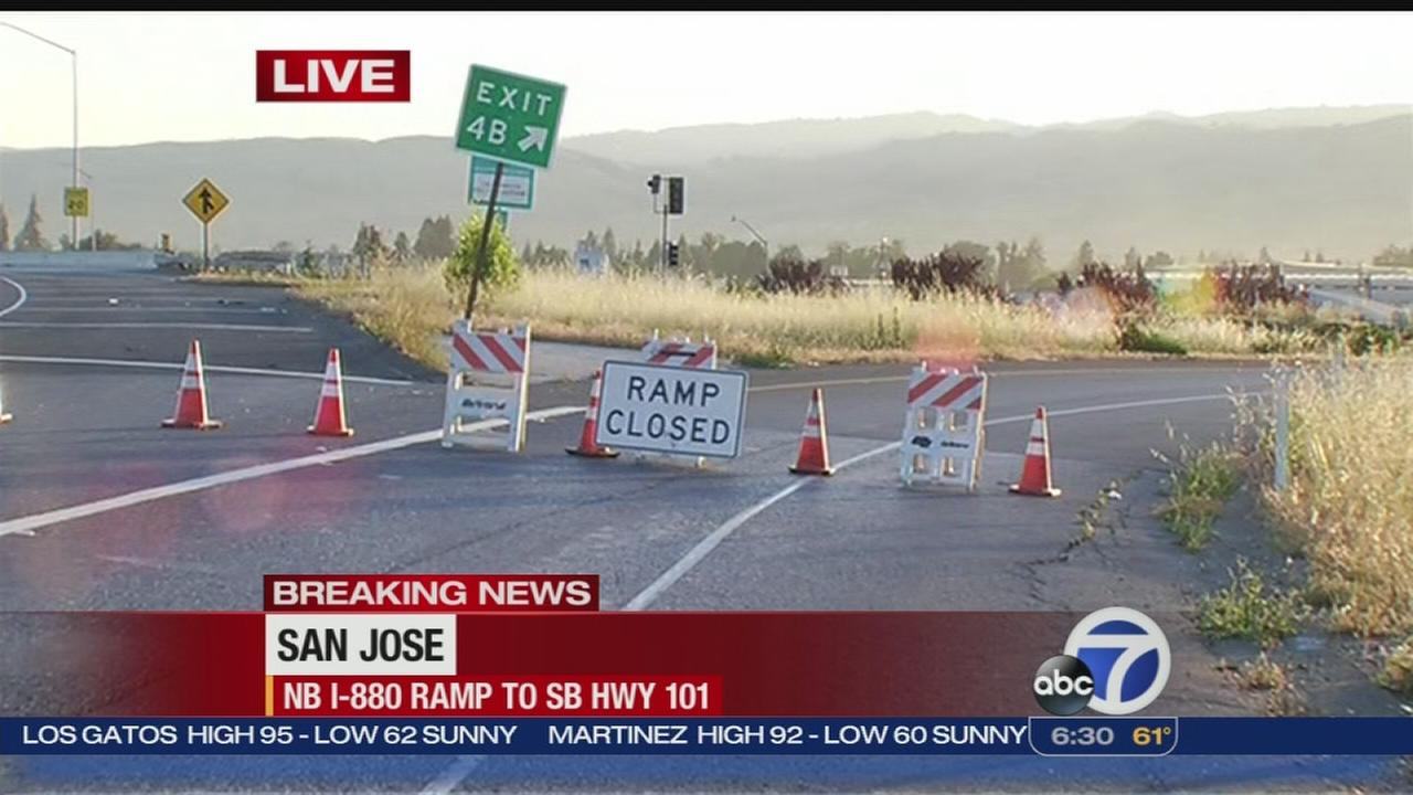 Caltrans crews close I-880 ramp in San Jose