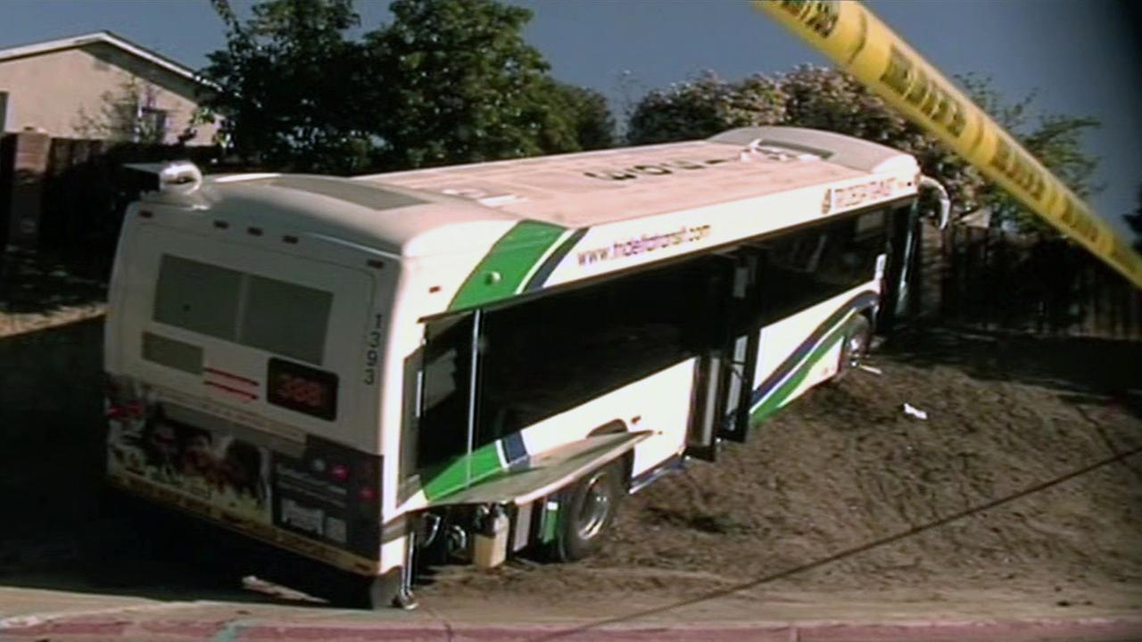 Bus crash scene in Antioch.
