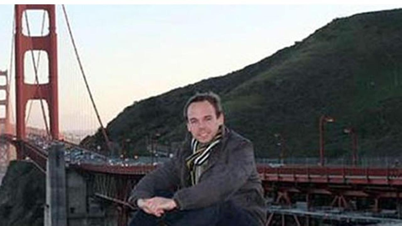 Germanwings co-pilot Andreas Lubitz is seen in a picture of the Golden Gate Bridge taken from Vista Point.