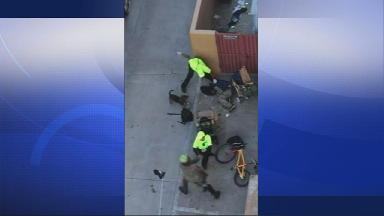 RAW VIDEO: Berkeley city employees fight with two men