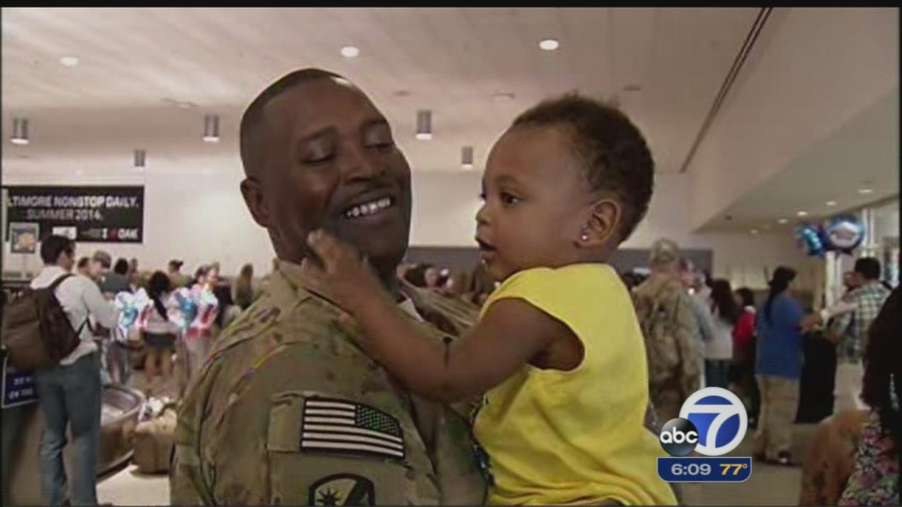 National Guard troops welcomed back home in Oakland