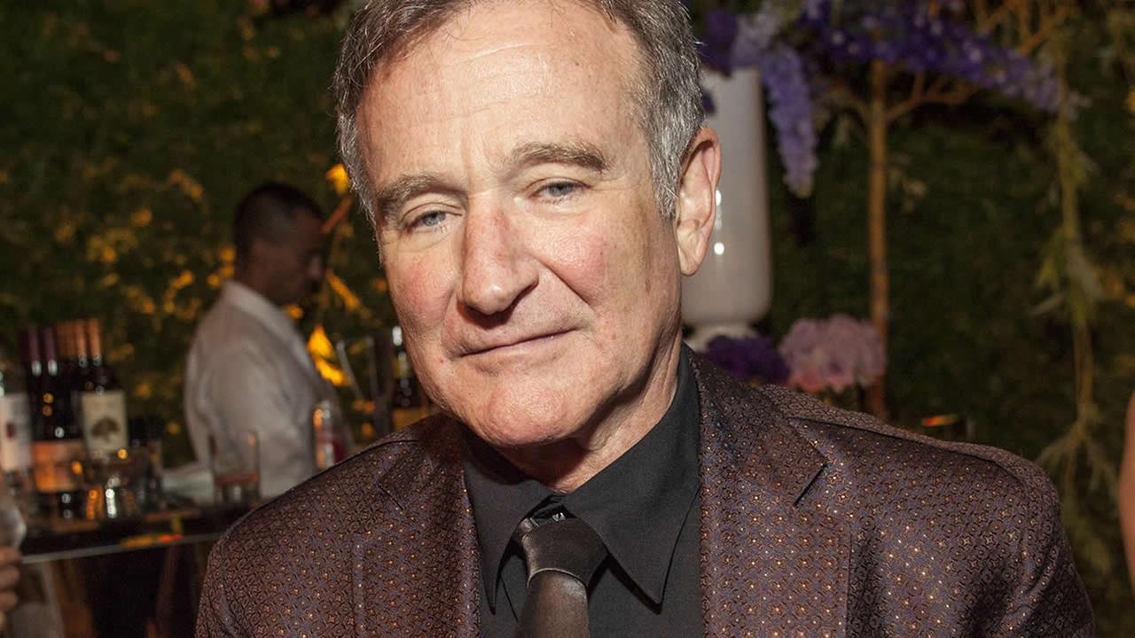 Robin Williams during the George Lucas and Mellody Hobsons wedding reception at Promontory Point on Saturday, June 29, 2013 in Chicago. (Photo by Barry Brecheisen/Invision/AP)