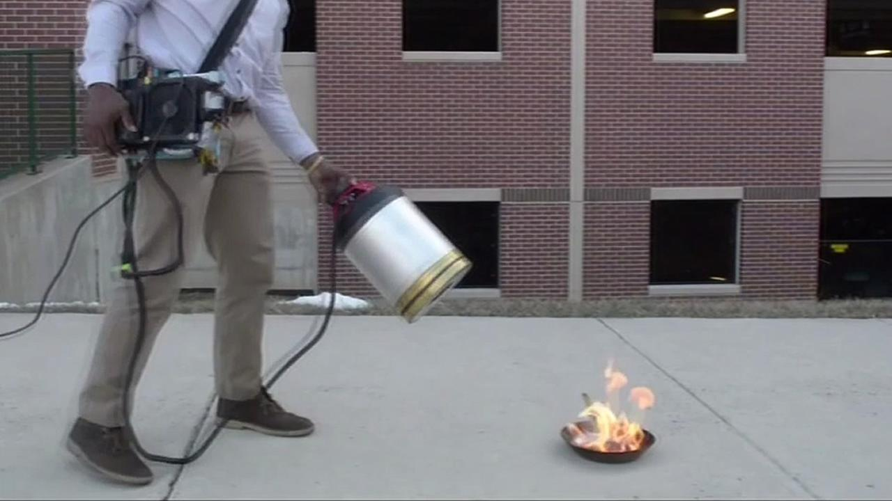 using sound to put out a fire