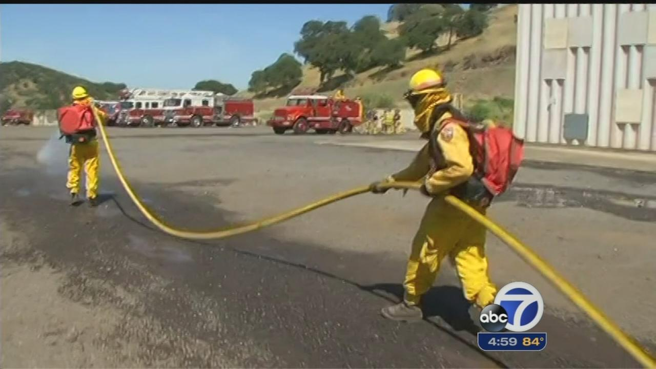 CAL FIRE recruits learn to fight fires in extreme heat