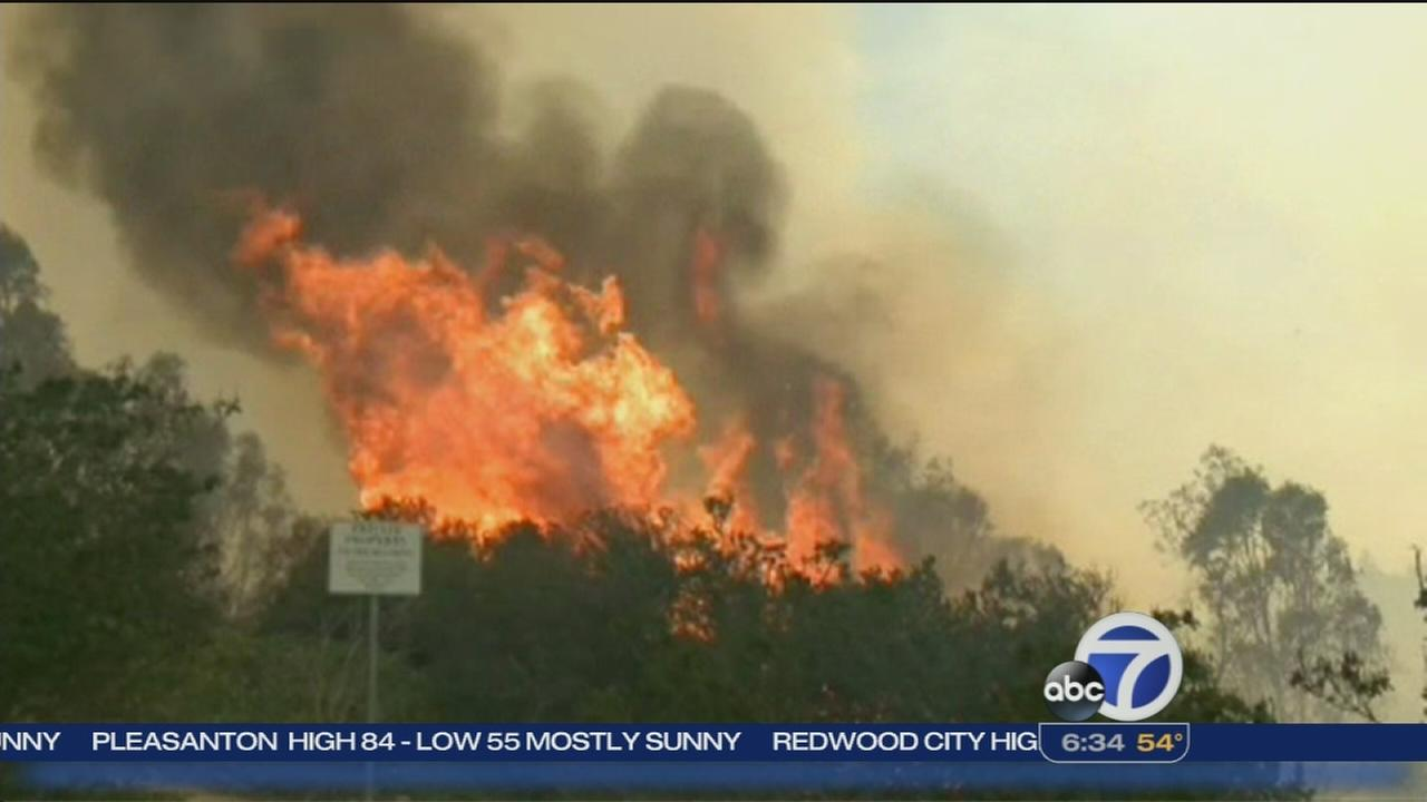 Some evacuations lifted in San Diego fire area
