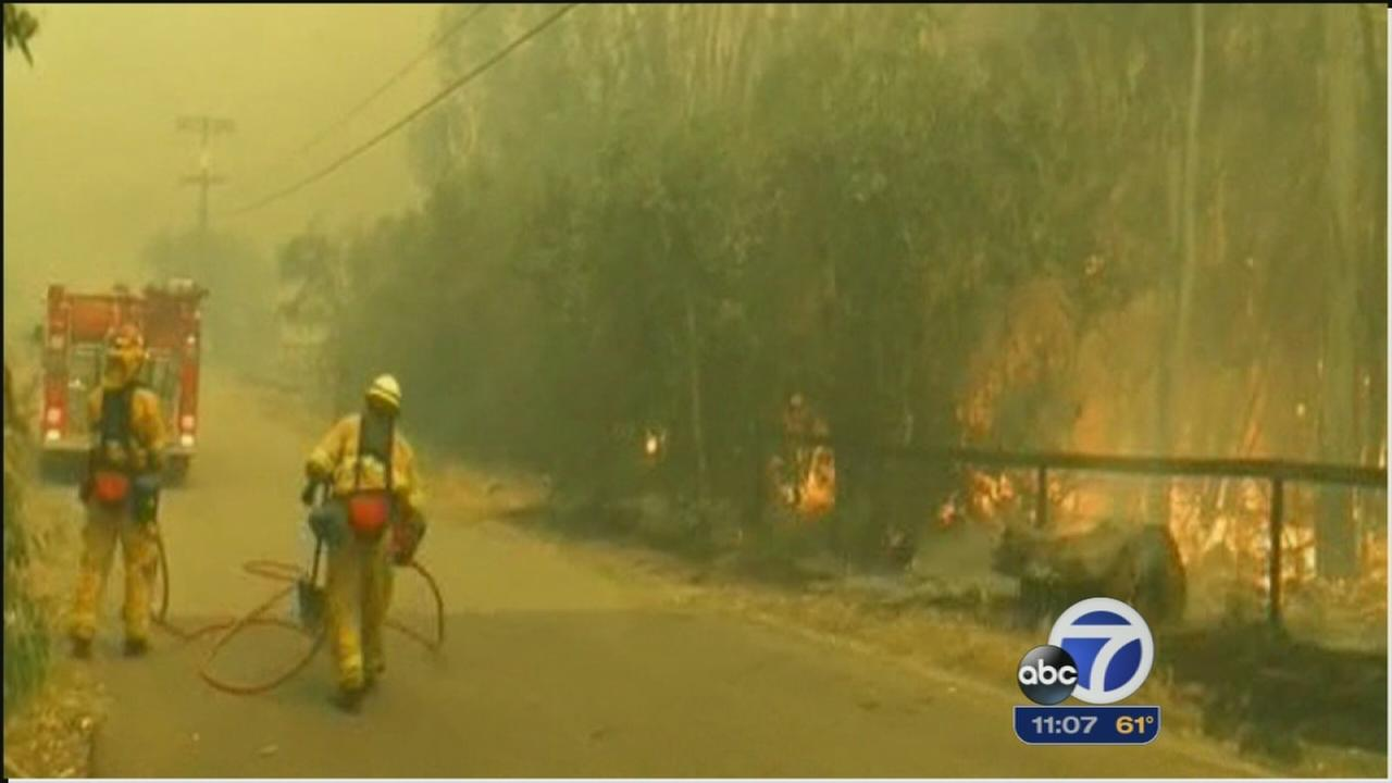 SoCal fire crews hoping for help from weather
