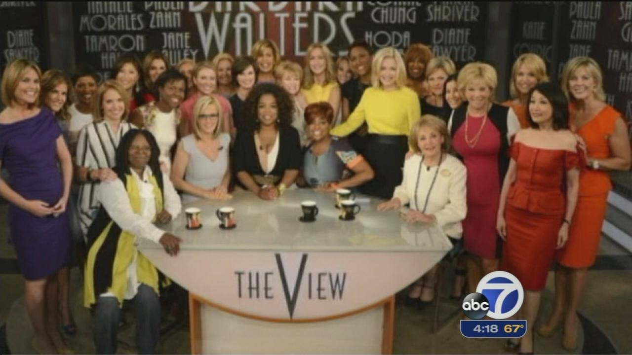 Starry send-off for Barbara Walters on The View