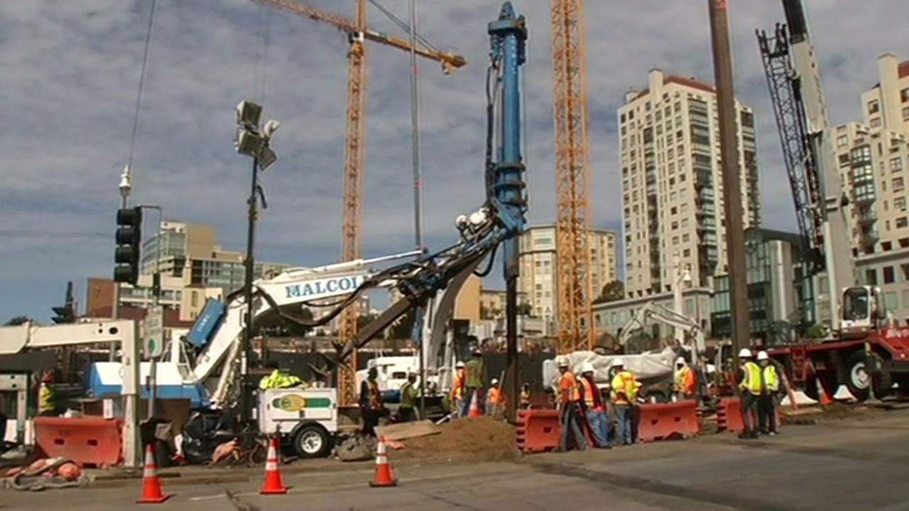 Van Ness Avenue in San Francisco is closed from Post Street to Geary Boulevard this weekend.