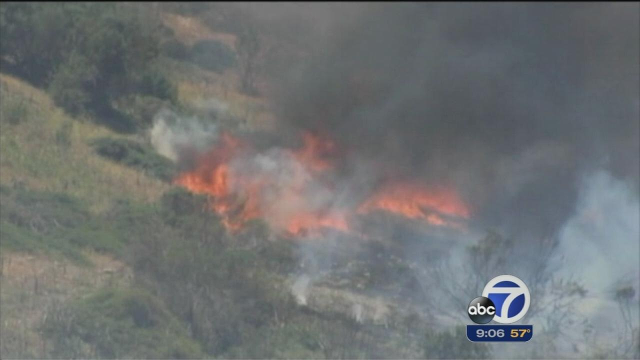 Fire destroys over 100 structures in San Diego County