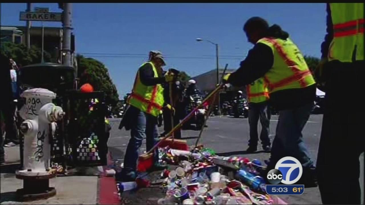 City crews clean up after Bay to Breakers in SF