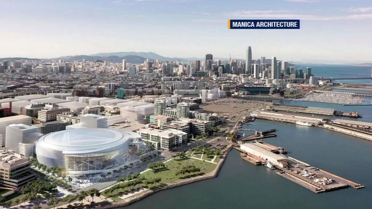 rendering of arena plans