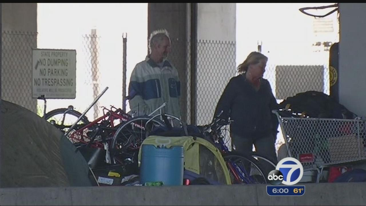 Homeless found at underpass after kicked out at Albany Bulb