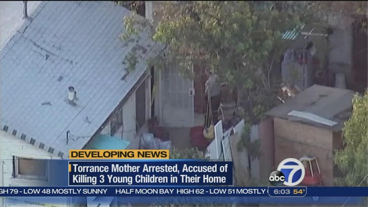 Mother accused of killing daughters in Southern California