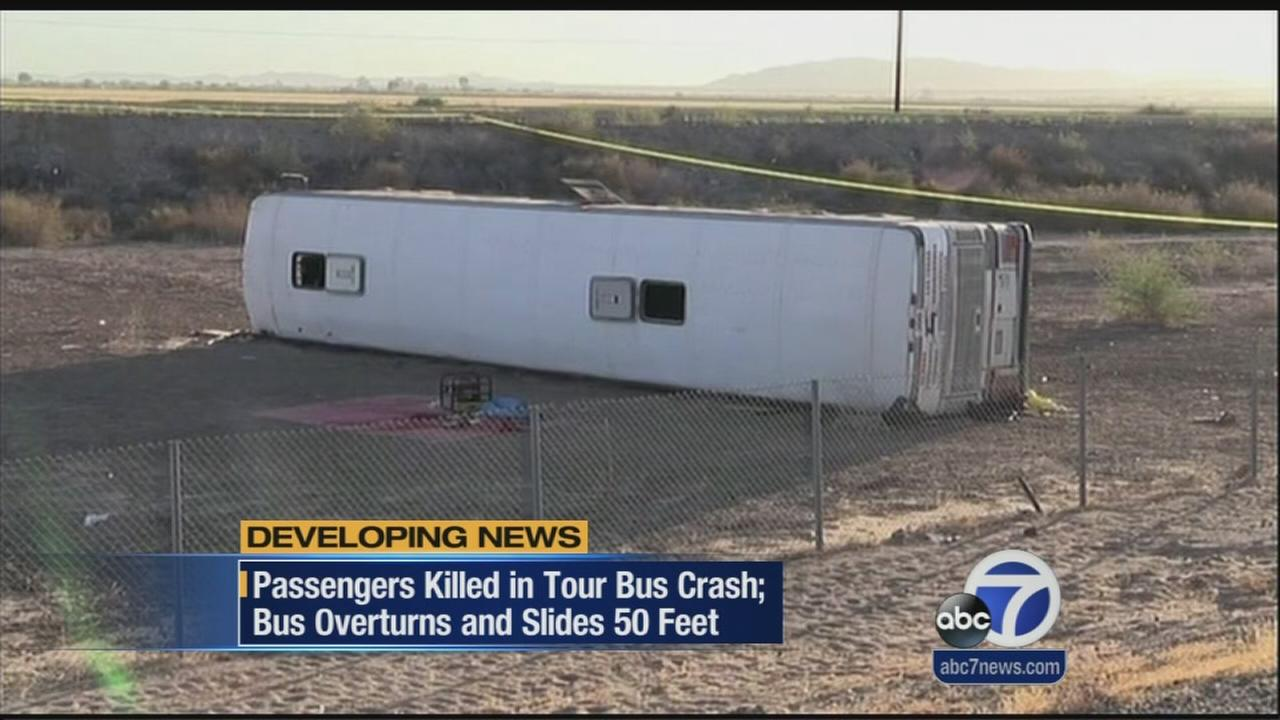 Four passengers killed in SoCal bus crash