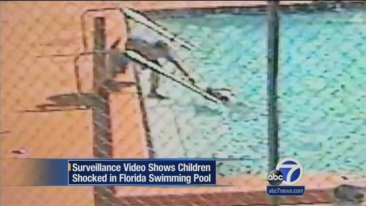 Children shocked while swimming in Florida pool