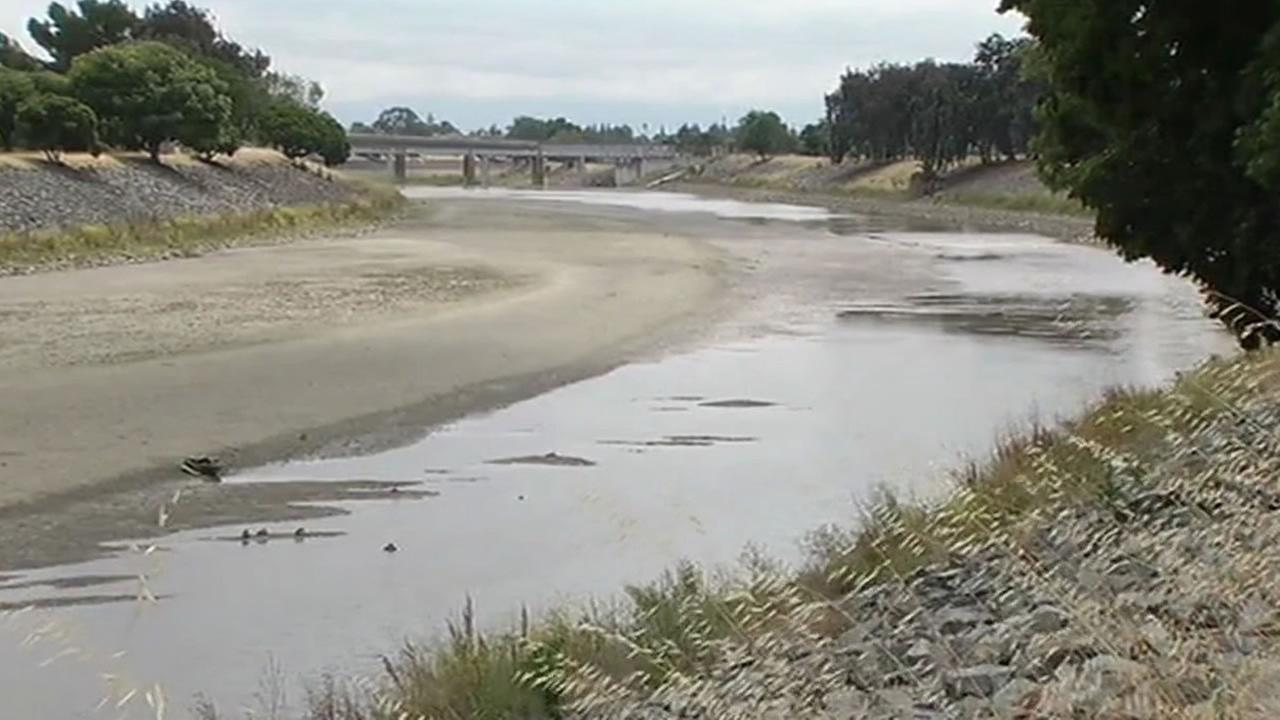 very little water in Fremont creek due to dam break