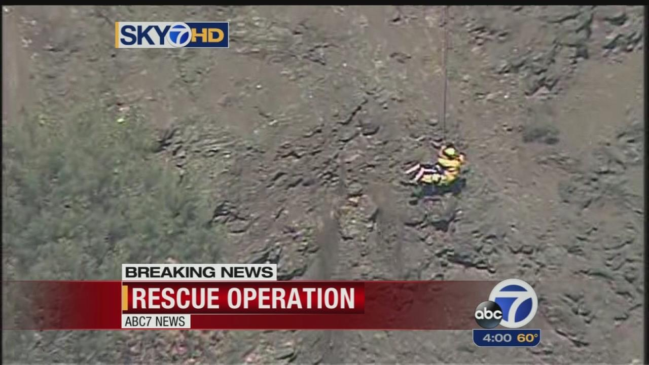 Cal Fire rescues 3 climbers from Anderson Reservoir Dam