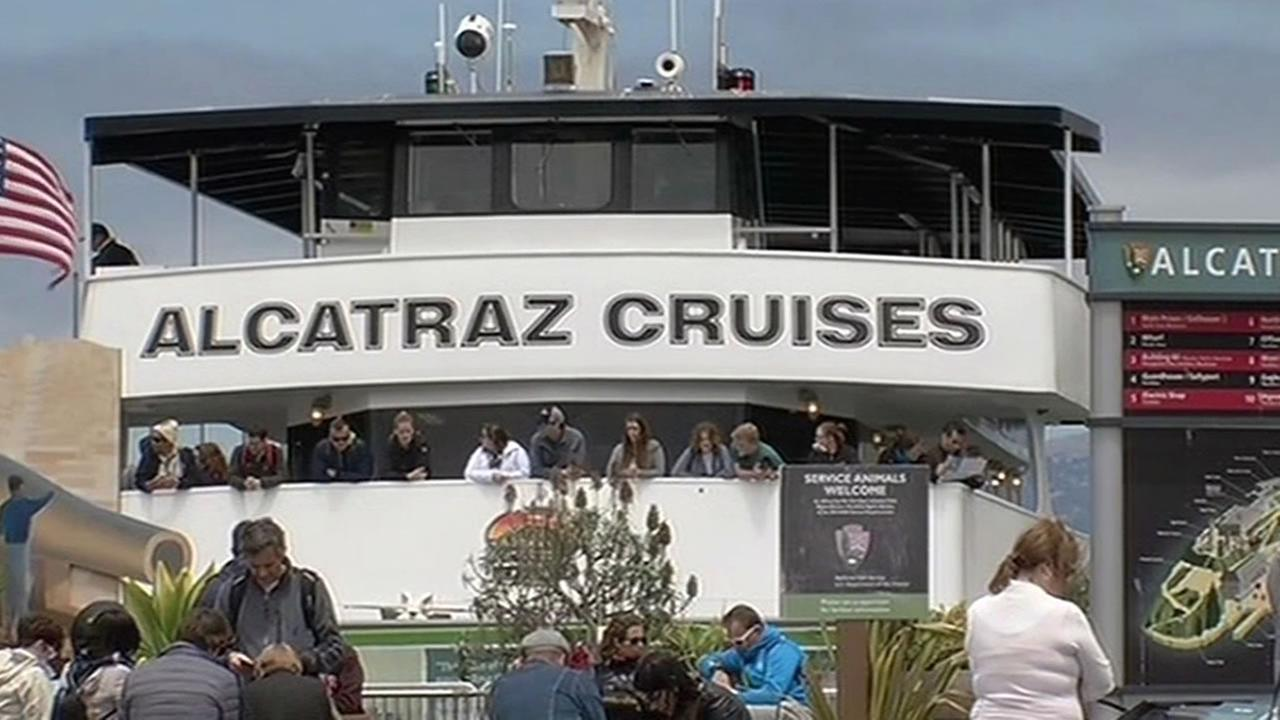 File photo - An Alcatraz cruise ship is seen at Pier 41 in San Francisco.