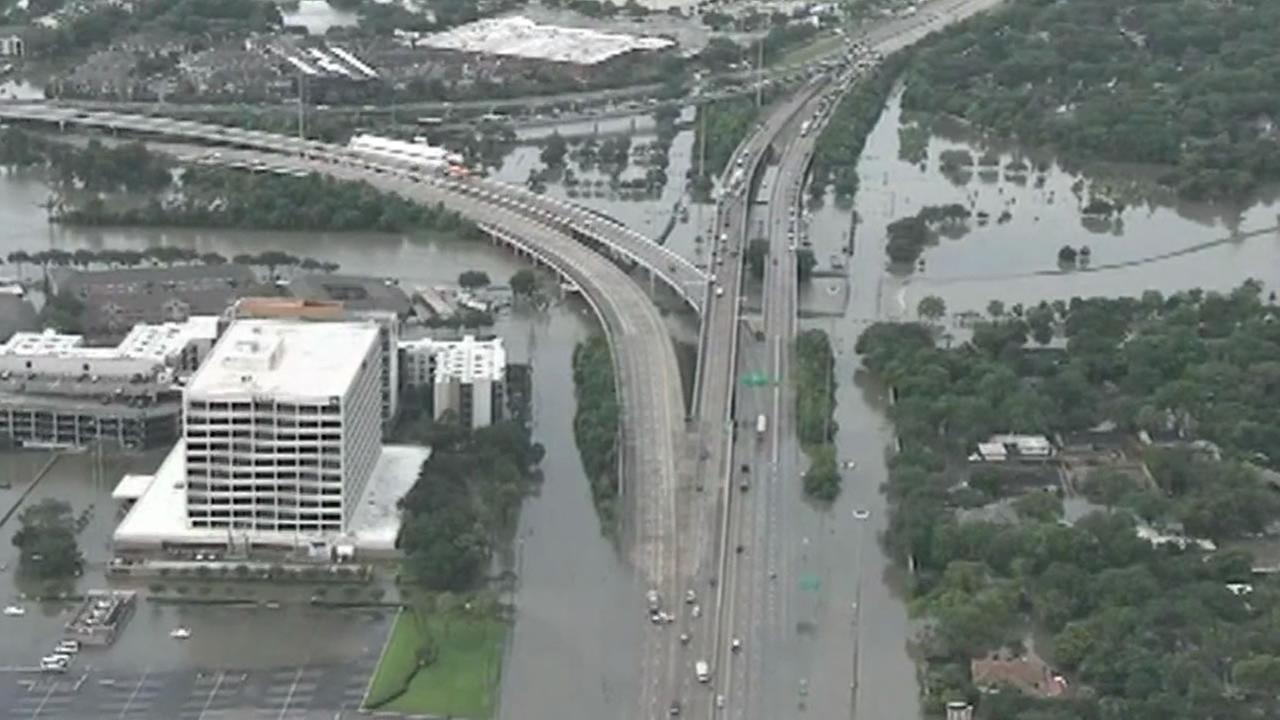 flooded freeway in Houston