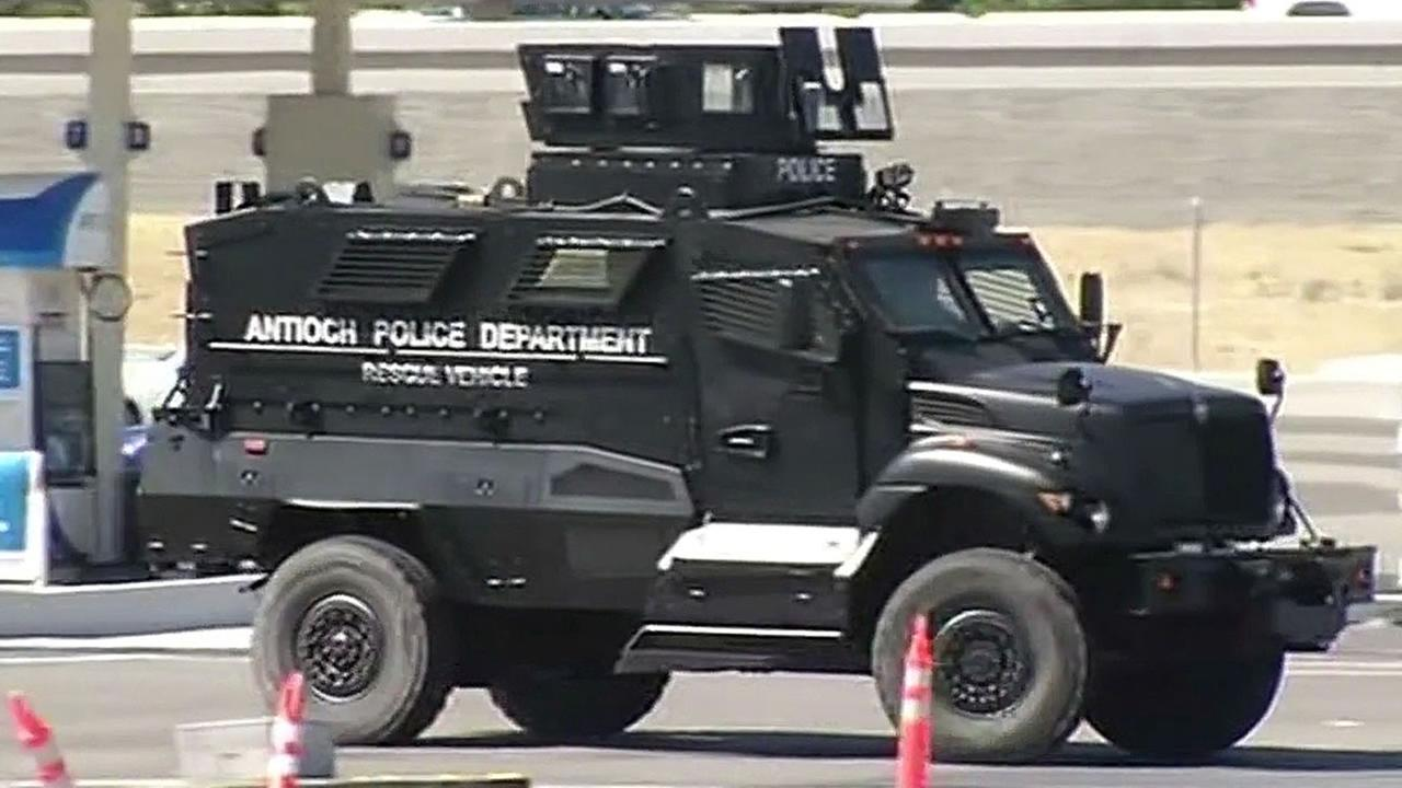 Antioch SWAT BearCat armored vehicle