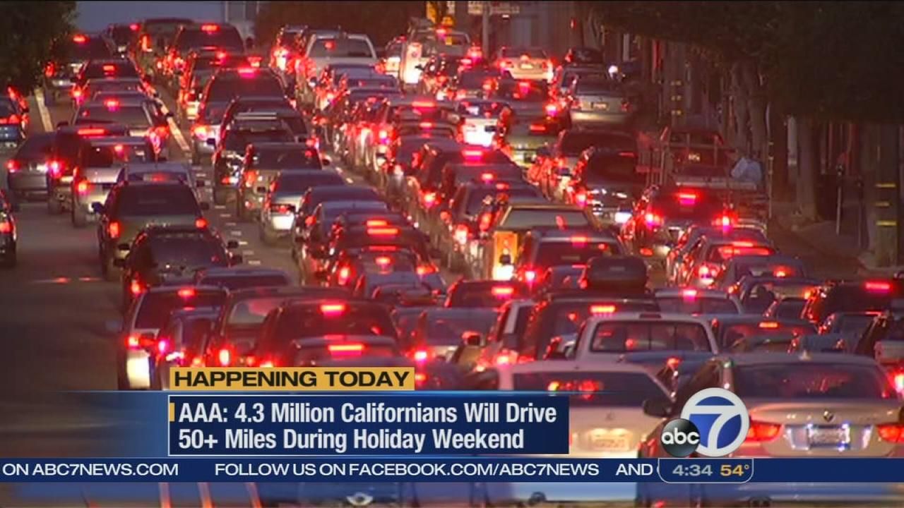 Busy travel weekend expected around California
