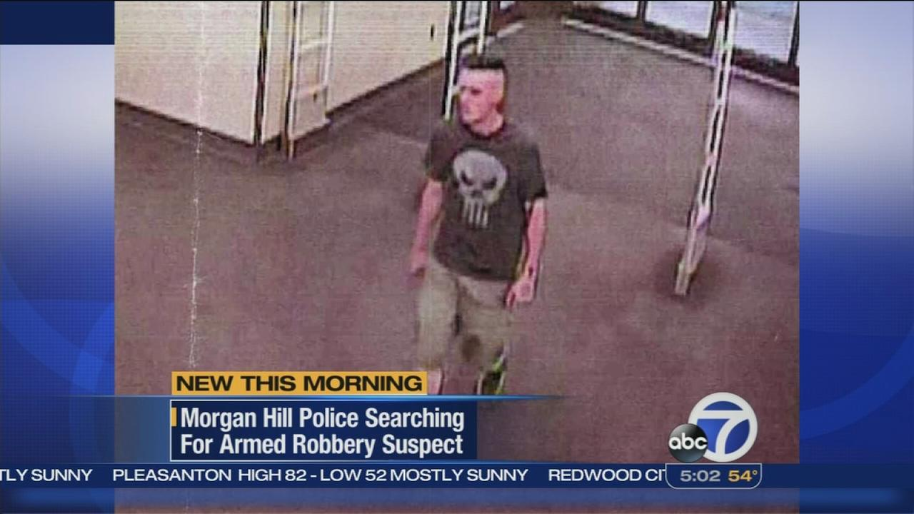 Surveillance tape released of Morgan Hill robbery suspect