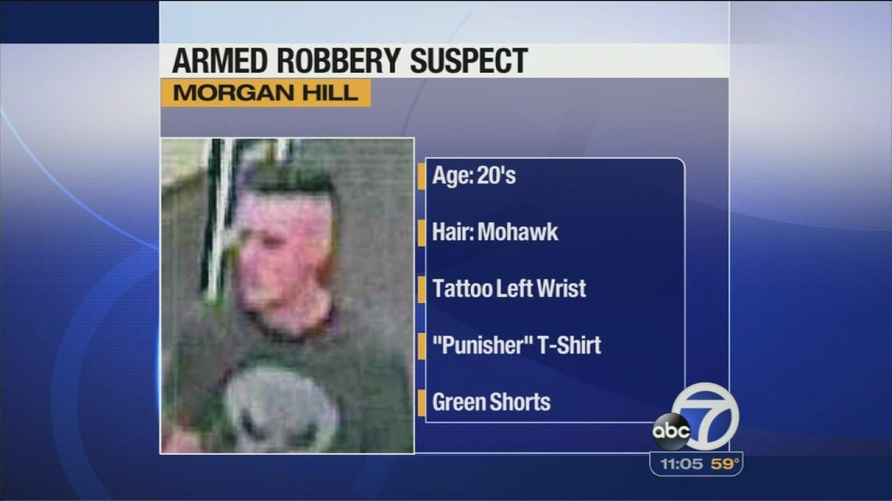 Morgan Hill police seek armed robbery suspect