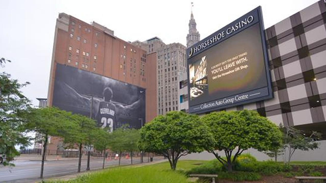 LeBron James is a big deal throughout the city of Cleveland.