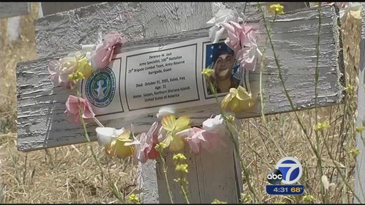 Residents visit Lafayette crosses on Memorial Day
