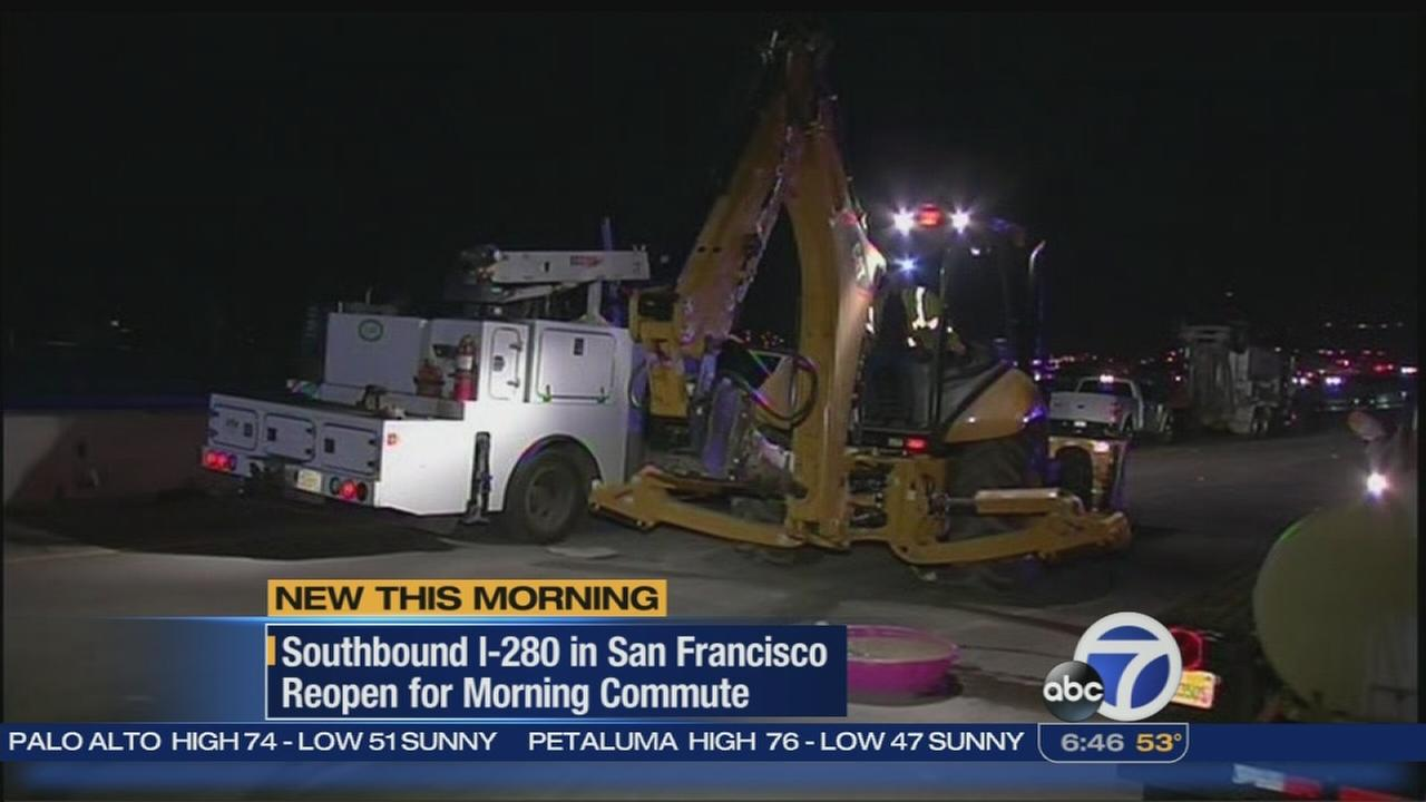 SB I-280 in SF reopened for the morning commute