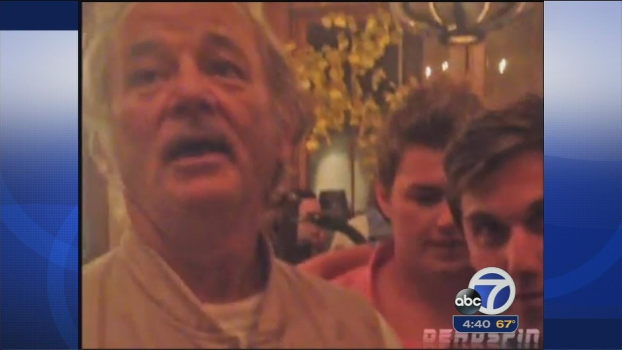 Bill Murray crashes bachelor party, gives advice