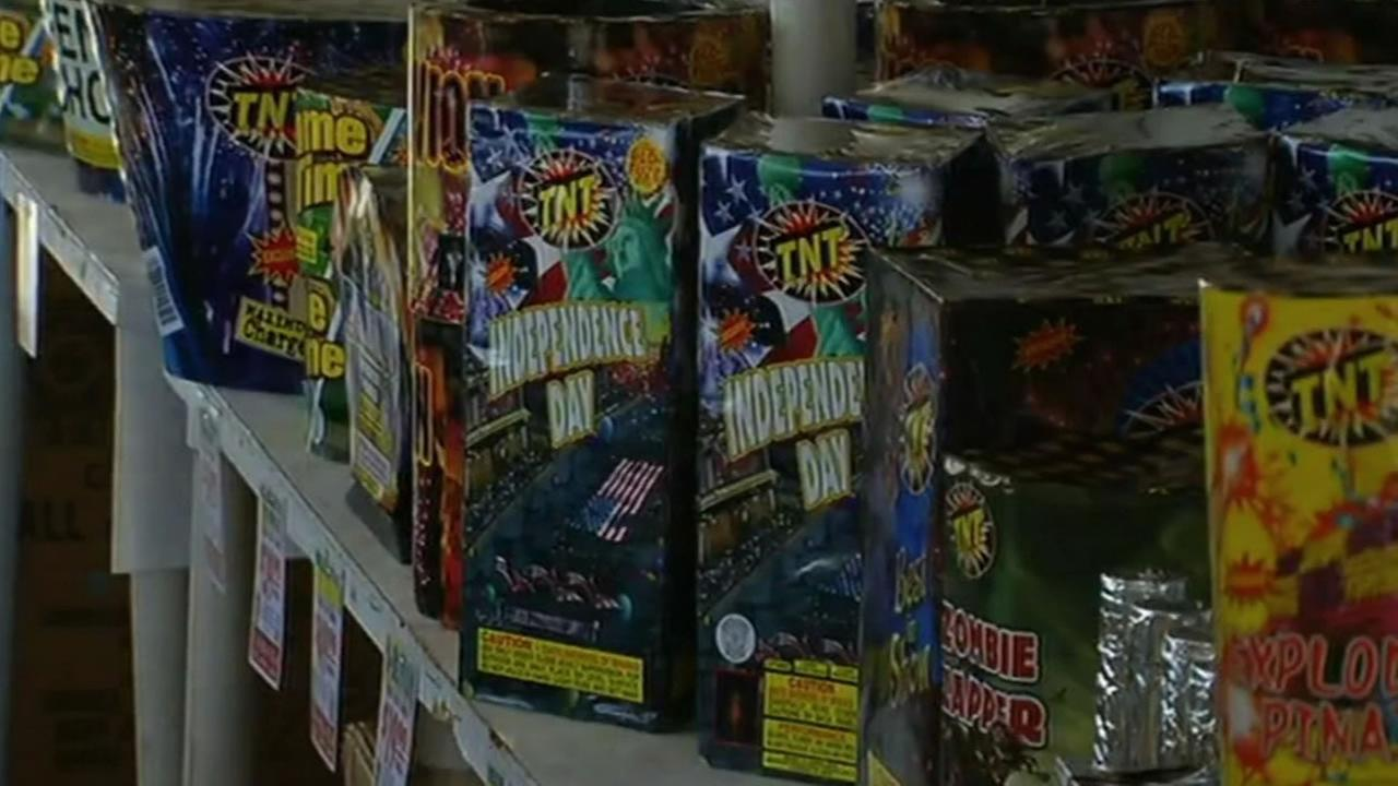 Fireworks for sale on Monday, June 29, 2015,  in Dublin, Calif., where they are legal.