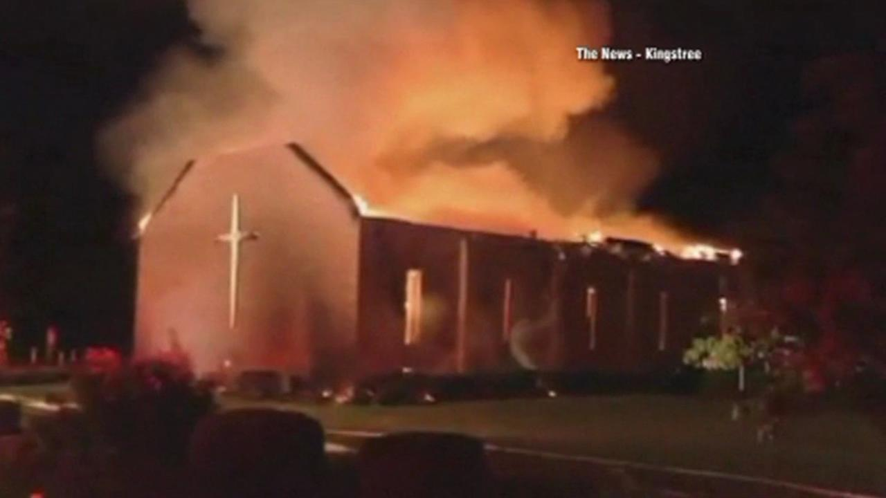 Preliminary indications show the fire at the Mount Zion African Methodist Episcopal Church in Greeleyville on Tuesday, June 30, 2015, was not intentionally set and was not arson.