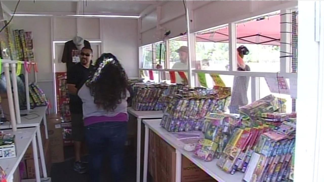 Nonprofits selling Safe and Sane fireworks in Gilroy on Friday, July 3, 2015, are warning customers to adhere to laws around using fireworks.
