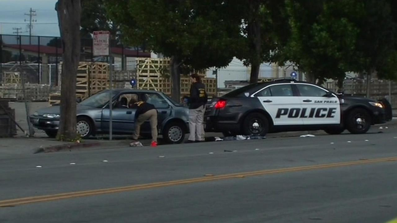 A teen suspect is now in critical condition at a local hospital following  a police chase that ended in the suspect being shot by cops on Sunday, July 5, 2015 in San Pablo, Calif.